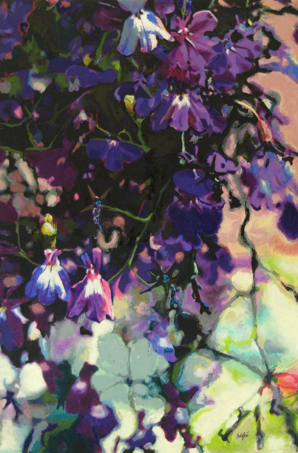 "lobelia  36""x24""  (sold)"