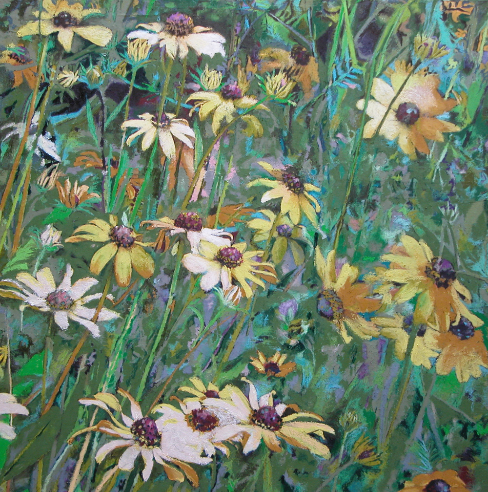 "rudbeckia  36""x36"" (sold)"