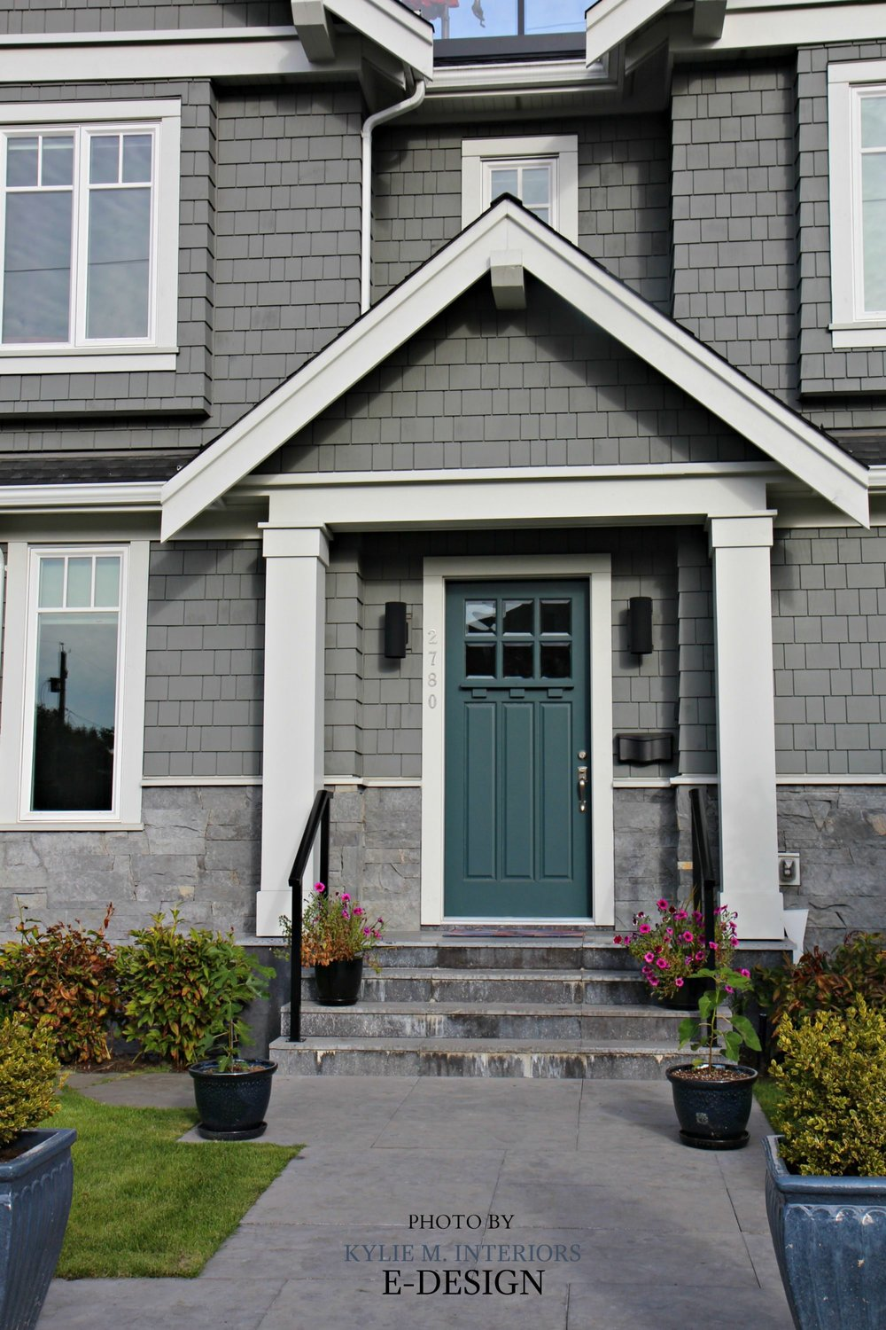 Front-door-curb-appeal-colour-similar-to-Sherwin-Williams-Riverway.-Shingles-exterior-similar-to-BEnjamin-Moore-Chelsea-Gray.-Kylie-M-E-design-photo.jpg