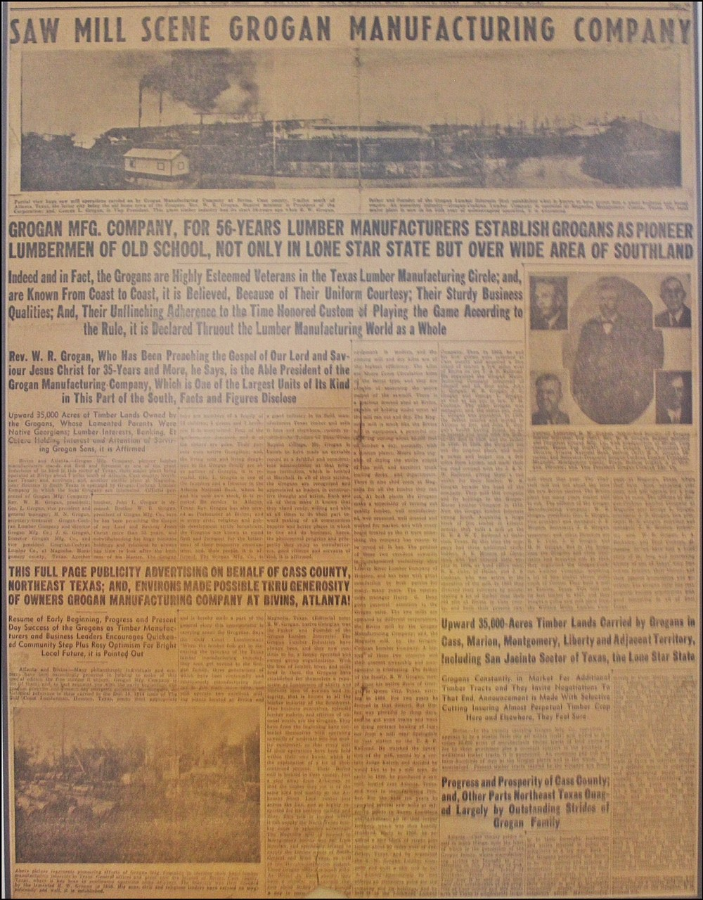 Grogan East TX Newspaper 1940