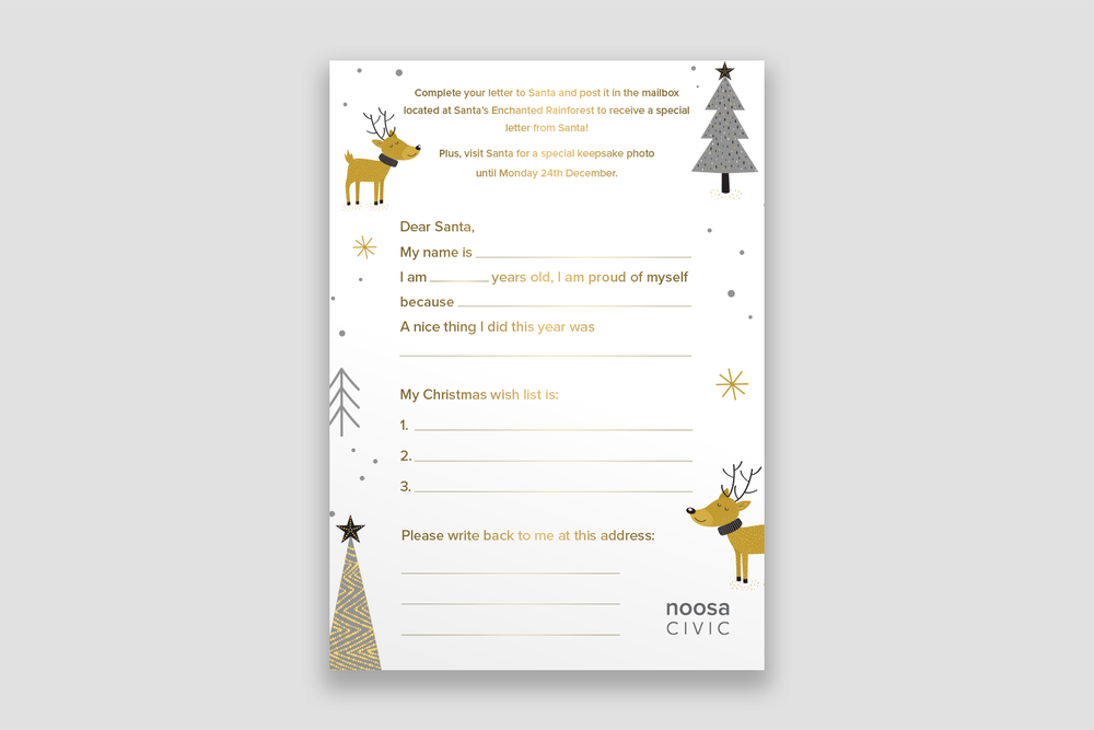 A5 Letter to Santa Template