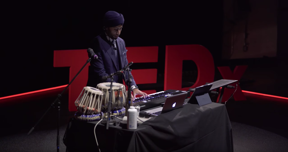 TEDx PerformanceGagan Singh illustrates how he's able to formulate a composition from taking a musical sound from his head and constructing it within fleeting moments. -
