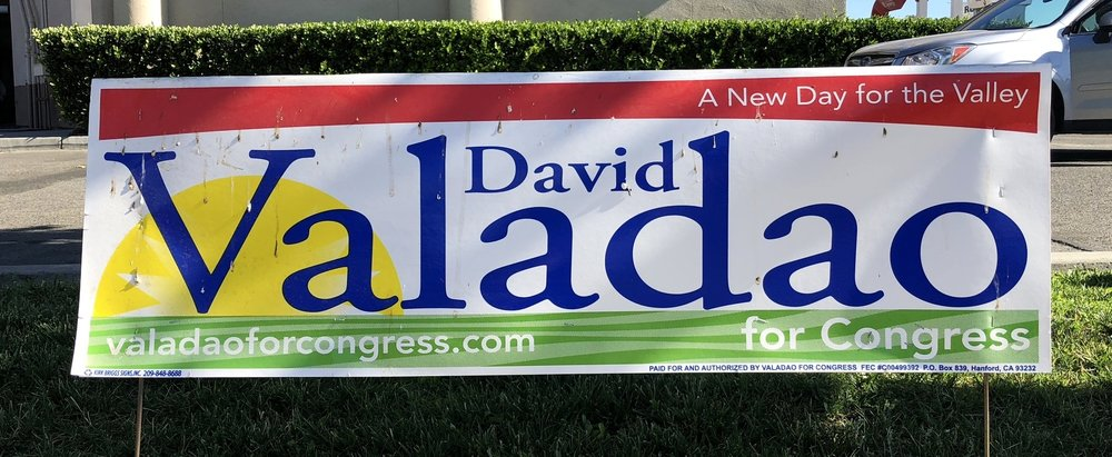Valadao Sign in Lemoore (with stuff on it)