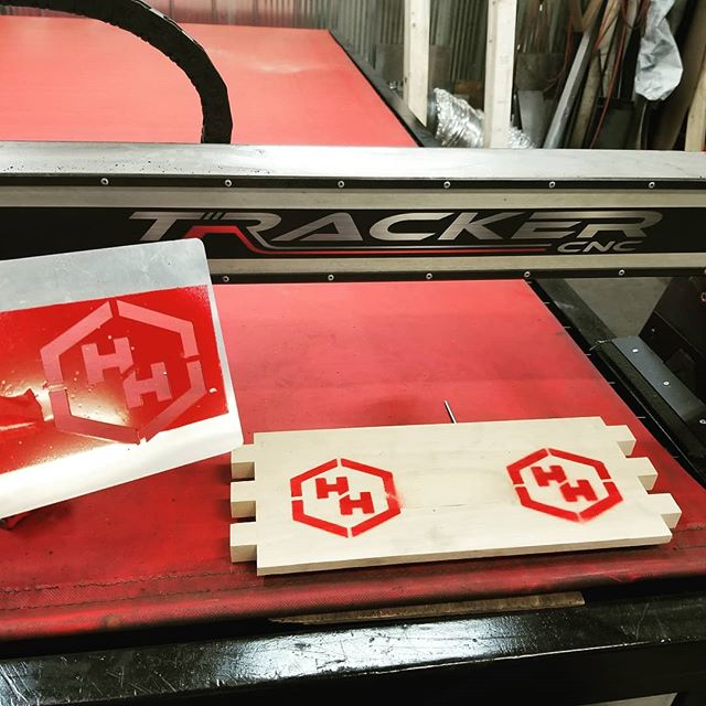 Cool little template made on a TrackerCNC for Heffs Hives...