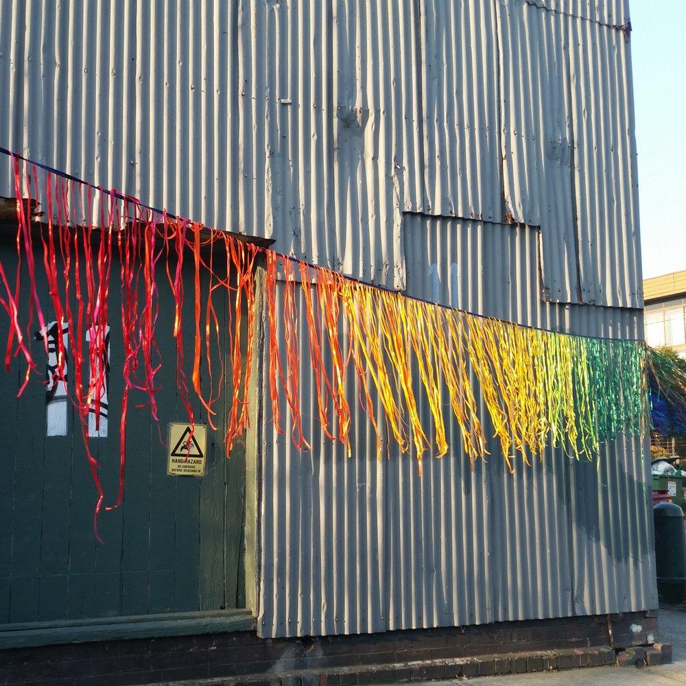Rainbow ribbon bunt