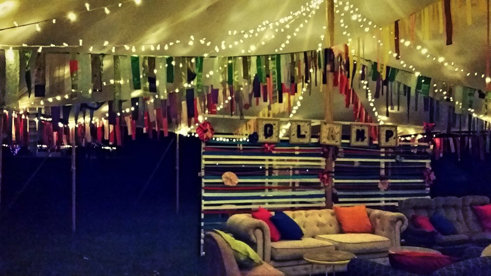 Lost Paradise festival glamping tent