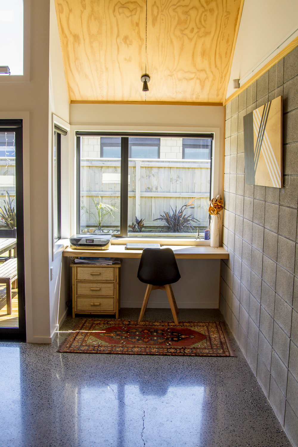 Study Nook  - The design resulted in a small alcove which was perfect for a light filled study nook