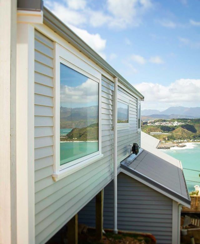 What a view!  #ResidentialArchitecture #WellingtonArchitecture #Architecture #Wellington #Alterations #TimberWeatherboards #WellingtonSouthCoast