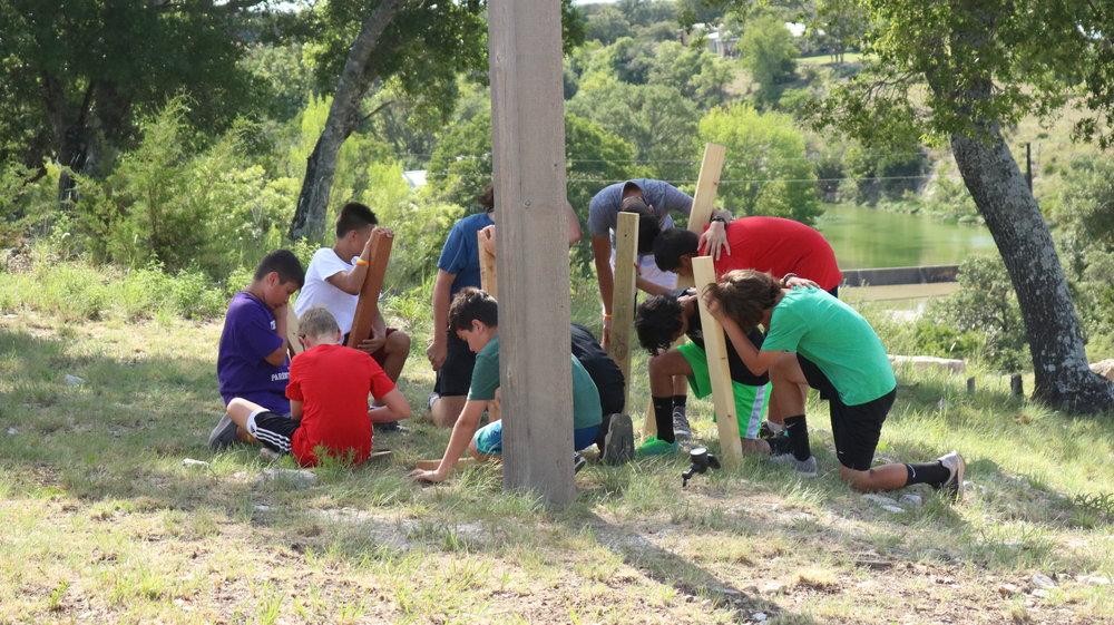 2017 summer camp under the cross.JPG