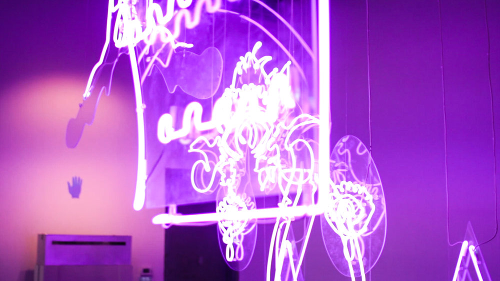 Aurora (Detail) , Neon, Lily Reeves