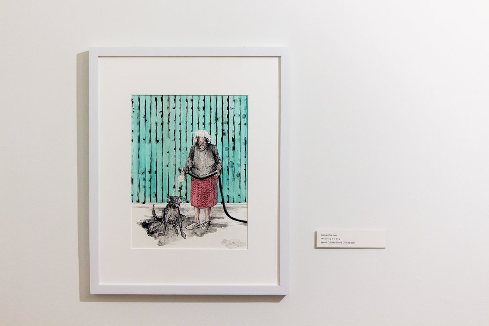 Watering the Dog,  Samantha Case  Colored Lithograph