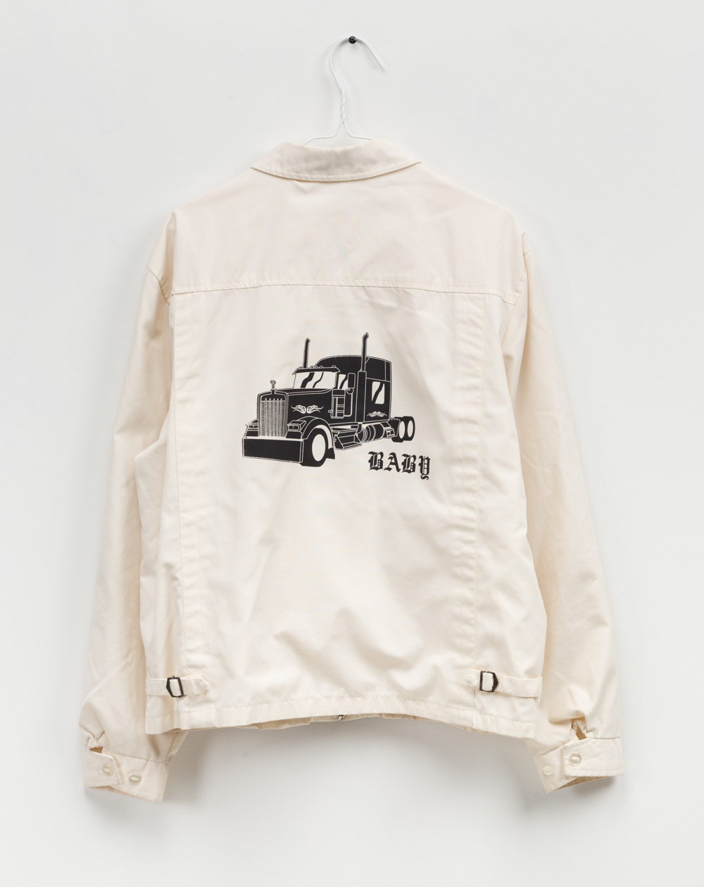 Baby Big Rig   Single-layer screenprint on found vintage jacket
