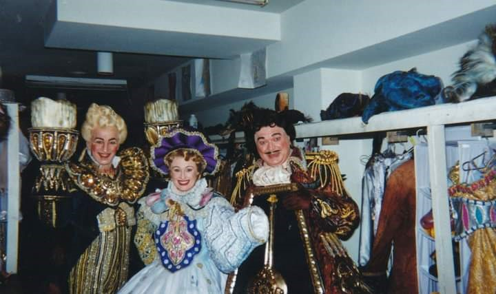 Beauty and the Beast - Cindy as Mrs Potts Beauty with Grant Smith and Bert Newton.jpg