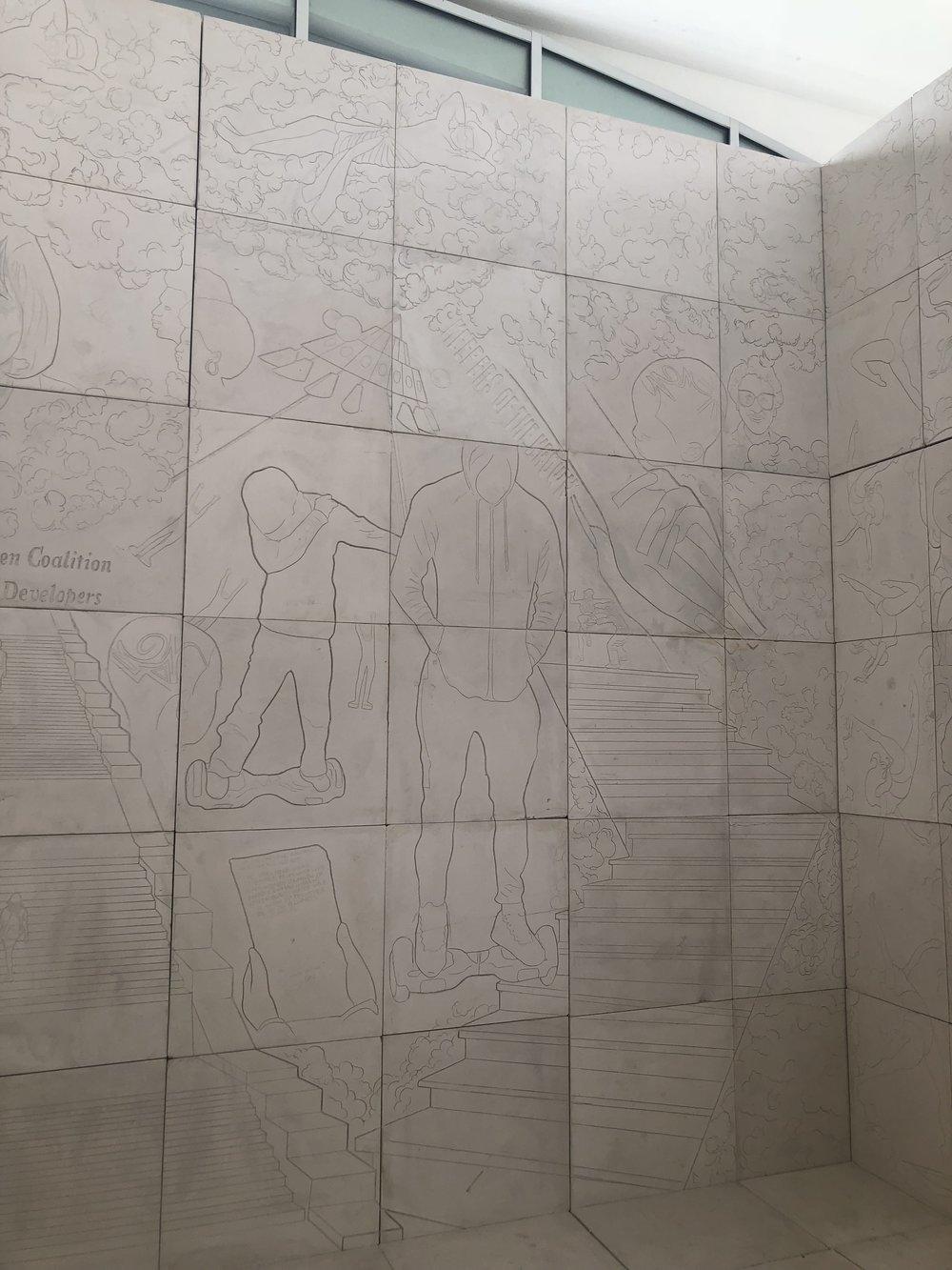 """Lauren Halsey, """"The Crenshaw District Hieroglyph Project"""""""