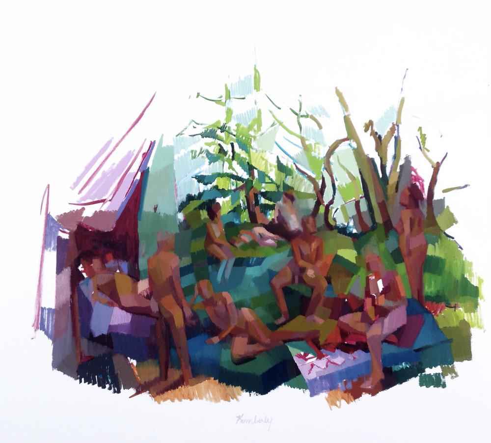 Arcadia (Vista),  Oil on Canvas, 2013