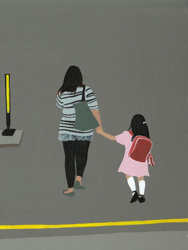 Backs (Hong Kong)  , acrylic on canvas