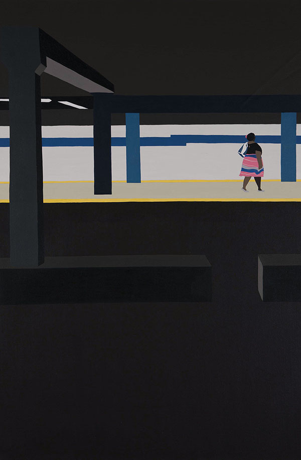 Backs (NYC)  , acrylic on canvas
