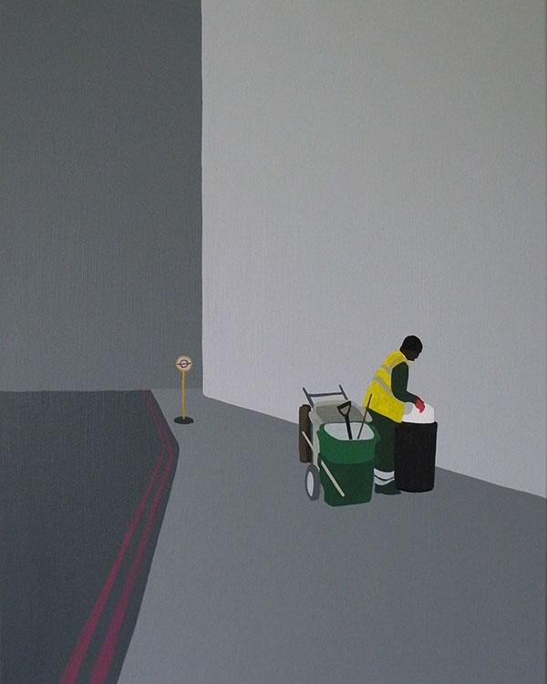 Backs (London)  , acrylic on canvas