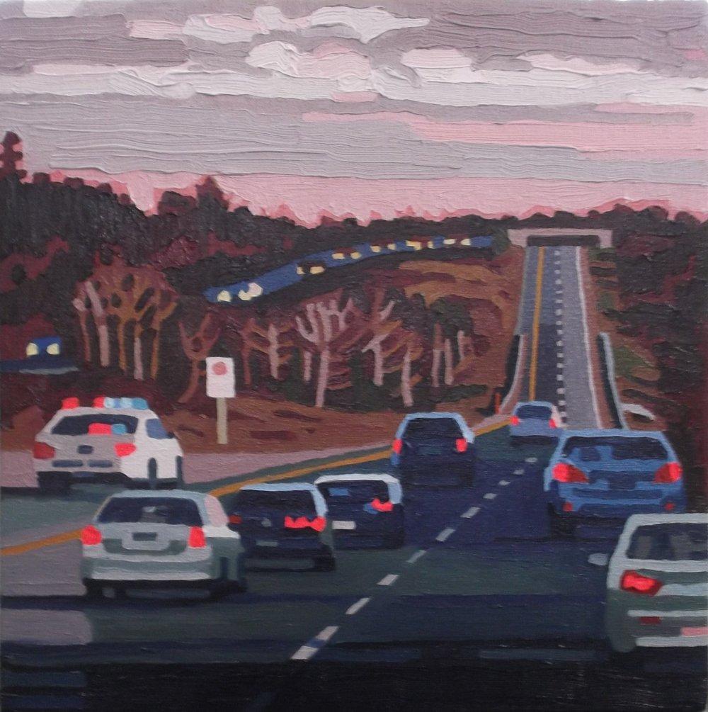 Speed Trap  , acrylic on canvas, 2016