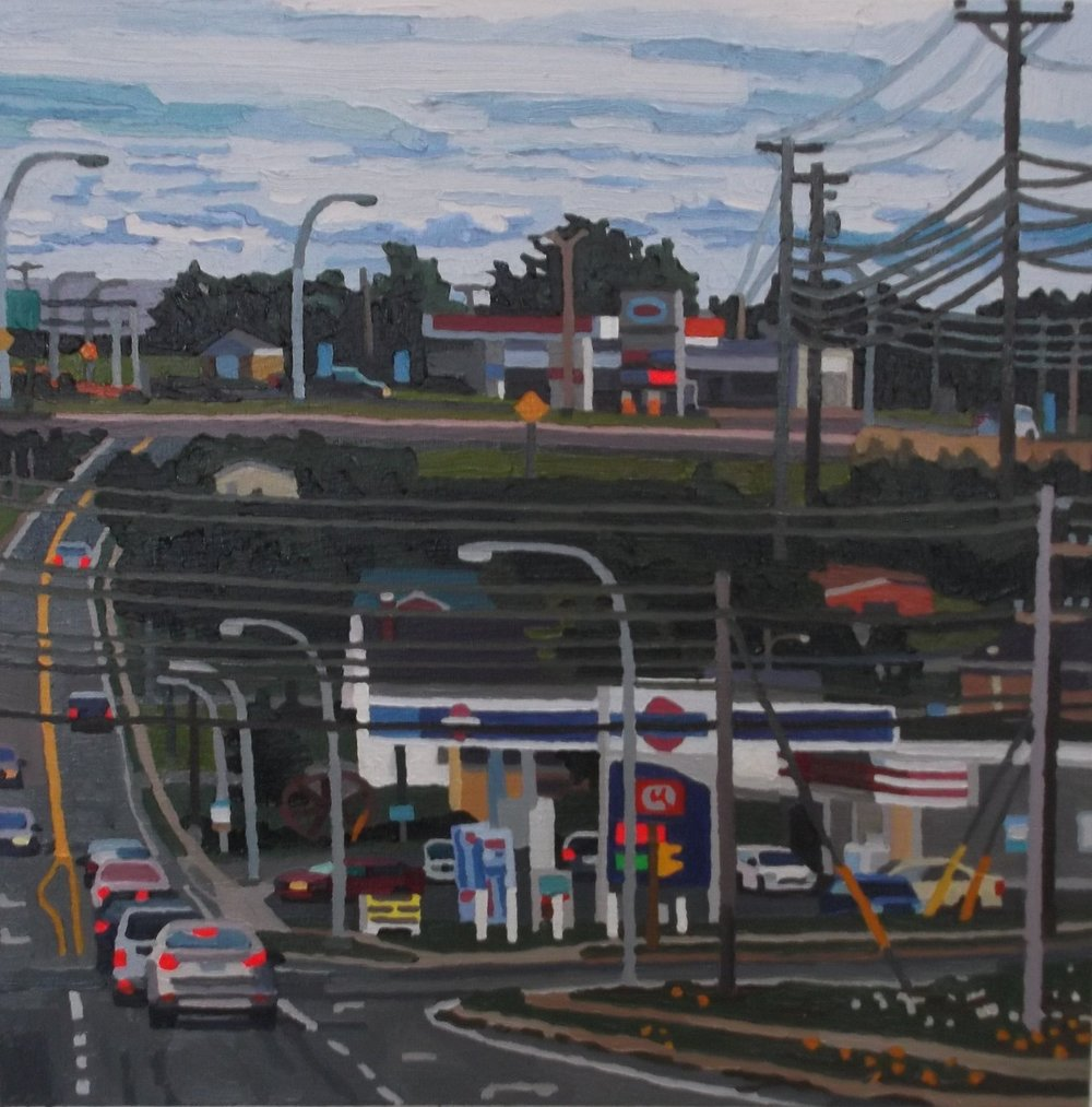 2 Gasbars  , oil and acrylic on canvas, 2017
