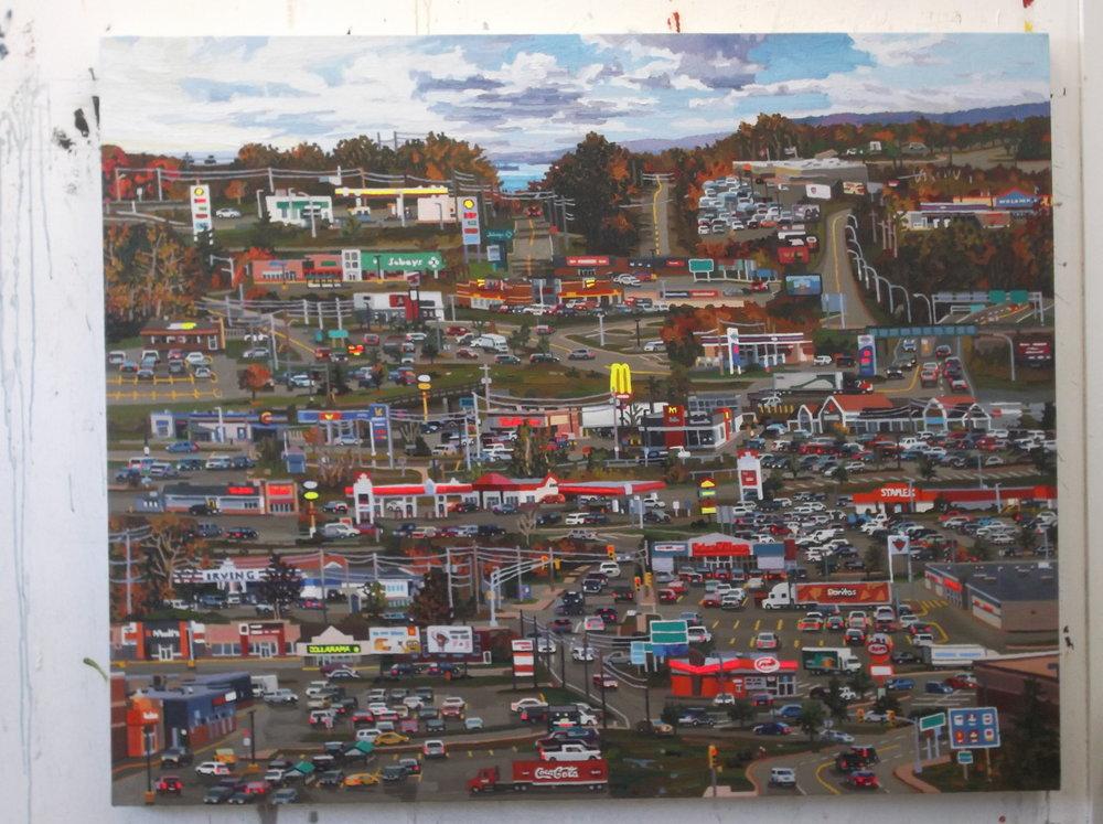 Value Village Doritos  , acrylic on canvas, 2016