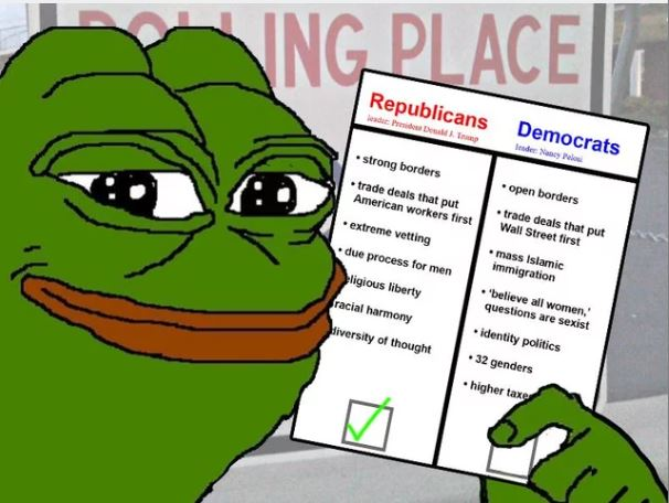 """Above is a popular meme of """"Pepe""""."""