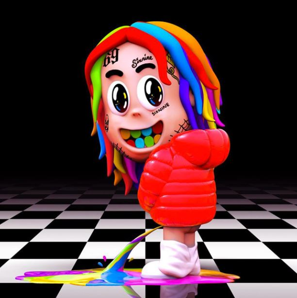 """Above is the cover art of 6ix9ine's recent album """"Dummy Boy"""" which was released 11/27/2018."""