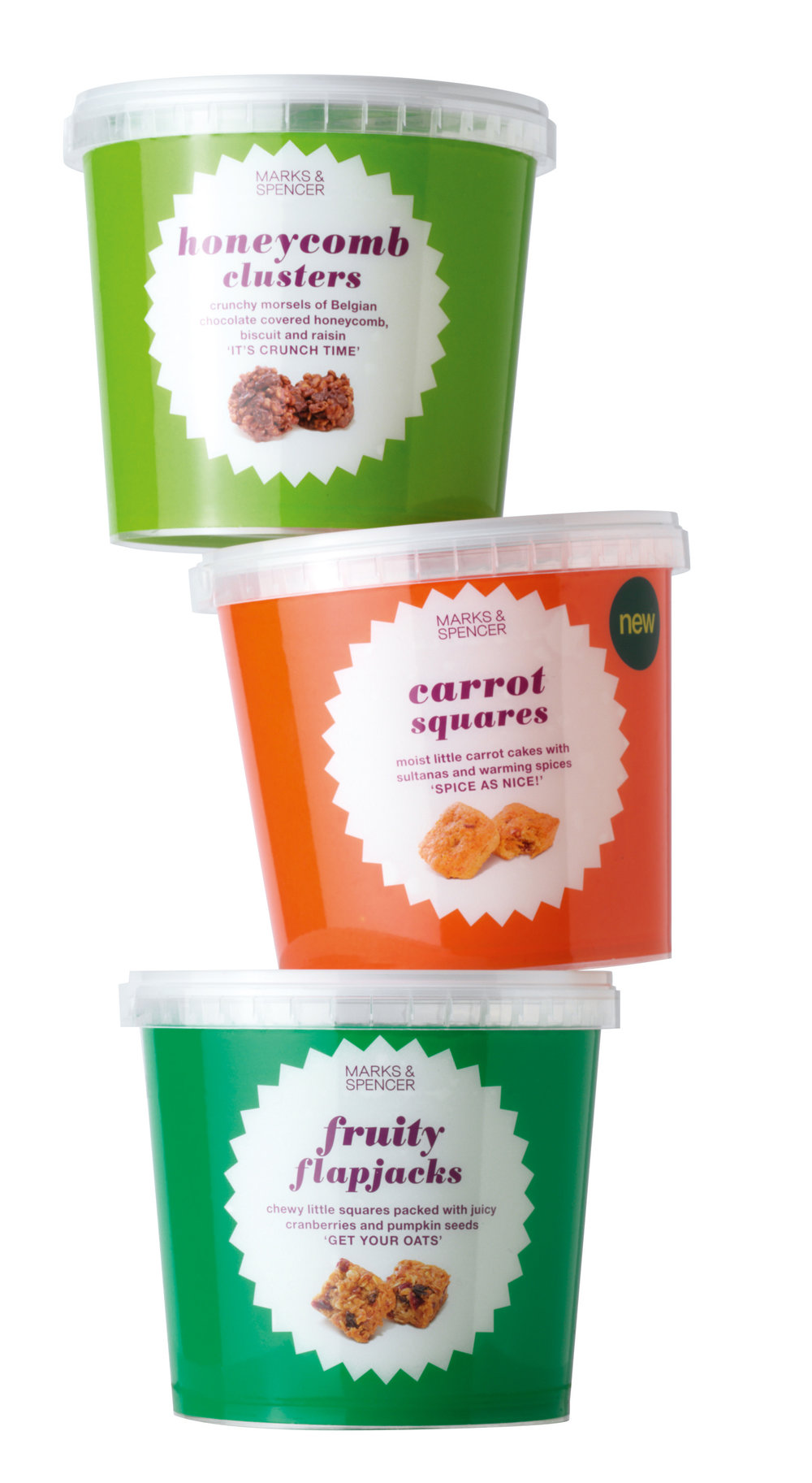 Packaging copy for M&S bakery treats