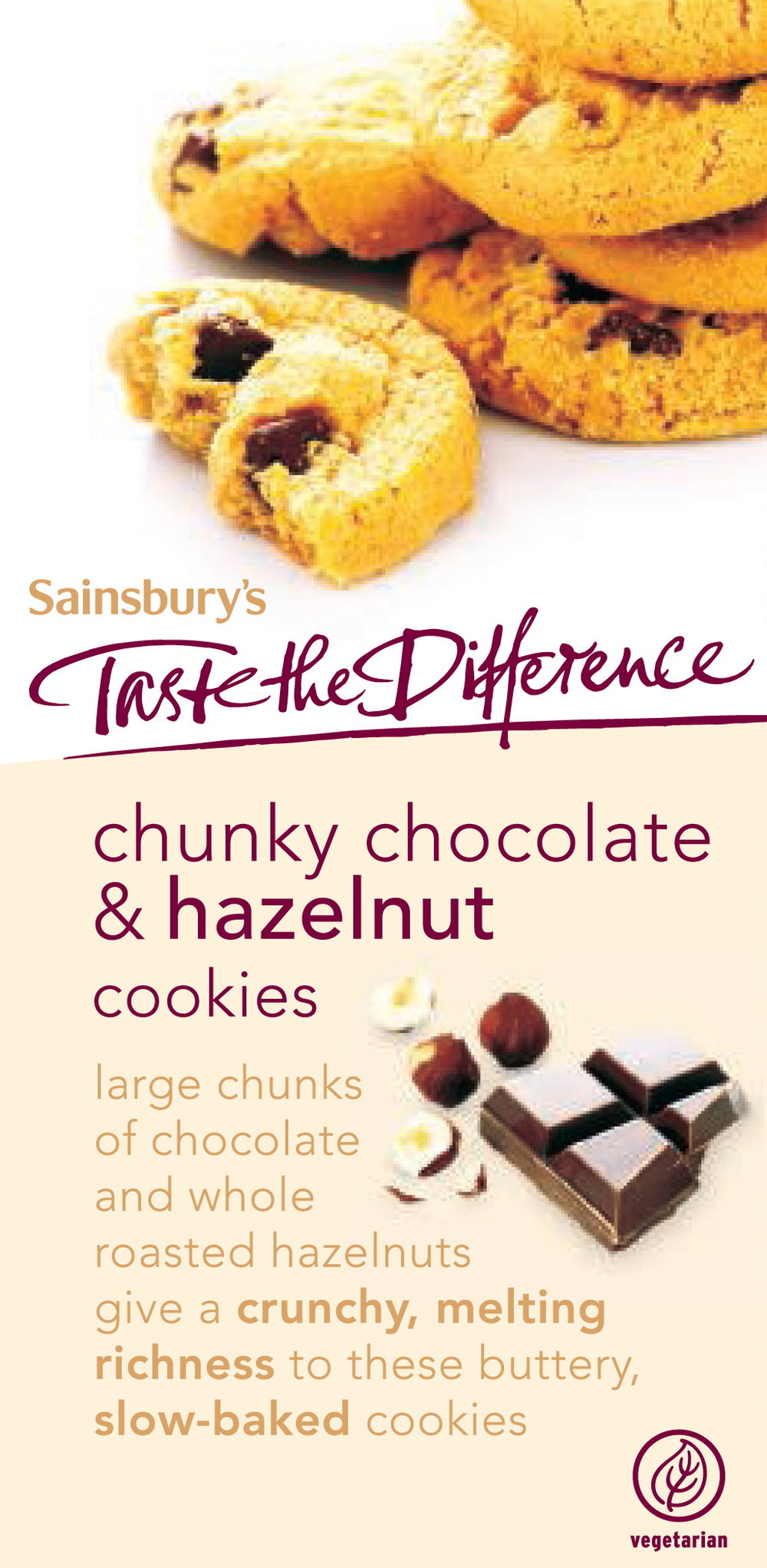 Packaging copy for Sainsbury's