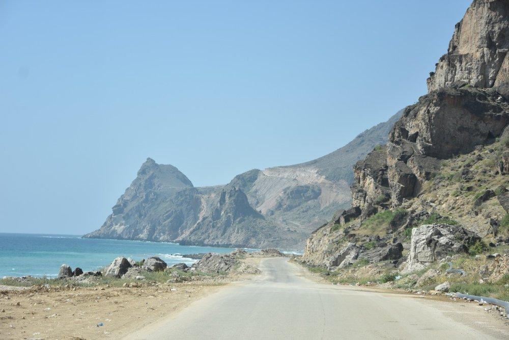 The shabby roadways and rogue boulders littering Yemen's coastline