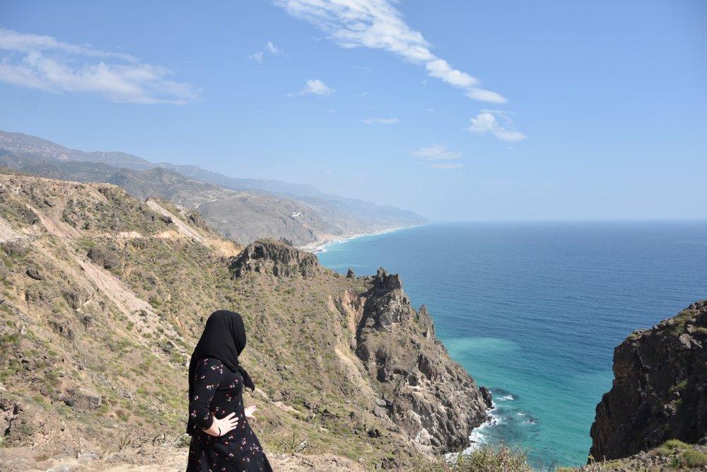 Enjoying the view of the Yemeni coastline