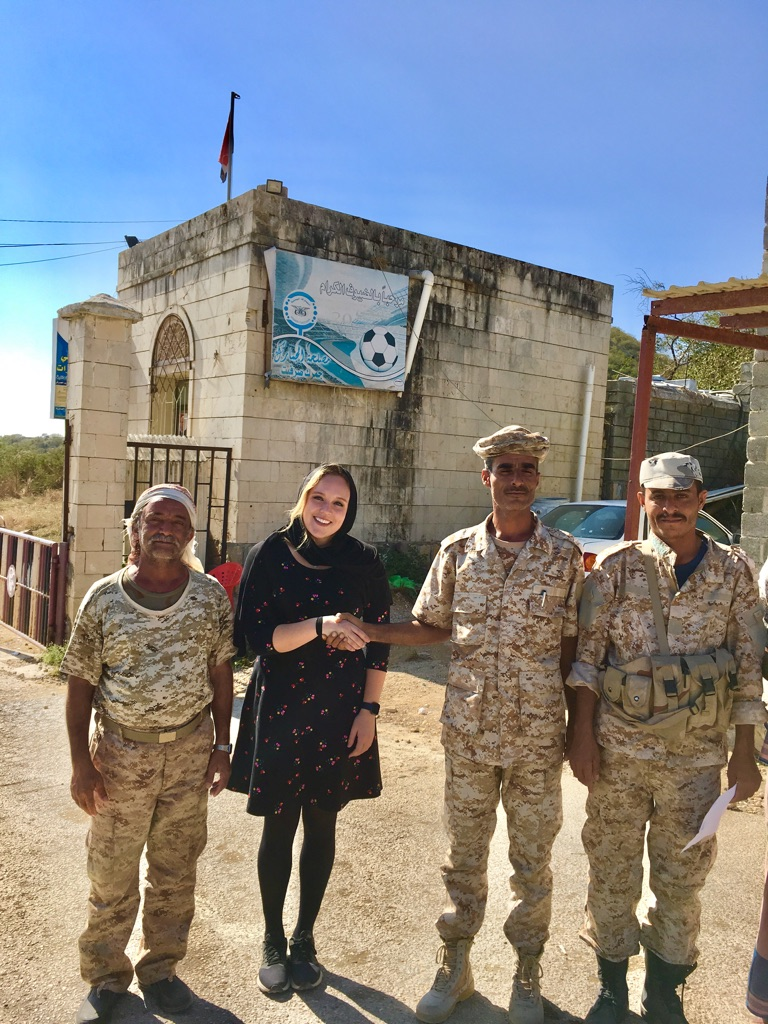 Photo op with the Yemeni border guards
