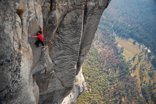 Alex Honnold Free Soloing El Capitan in Yellowstone National Park.