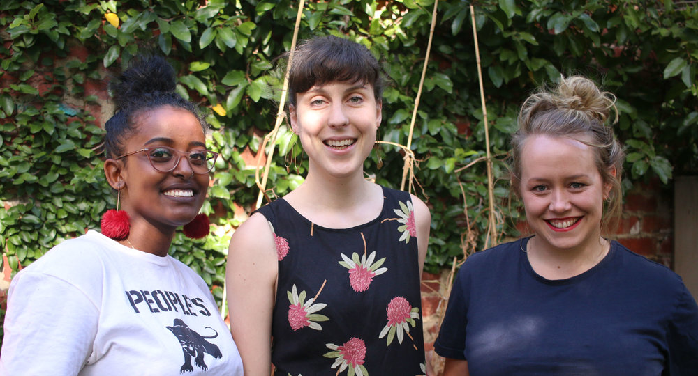 Broadwave Co-Directors and Co-Founders Areej Nur, Izzy Roberts-Orr and Beth Atkinson-Quinton