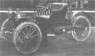 Kelsey 's 1910 Motorette with steering device known as a Tiller.