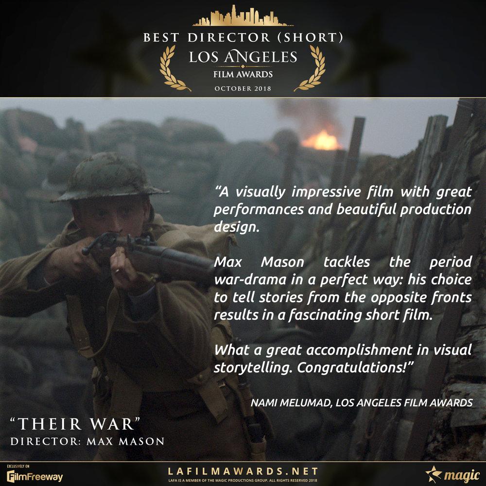 1. Their War - LAFA Best Director - Short - Review.jpg