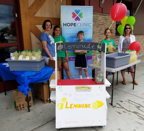 'Raising HOPE with Lemonade' DIY: HOPE Fundraising event | Hosted by sisters Naomi and Sarah Hernandez, Michael Buck, and their parents.