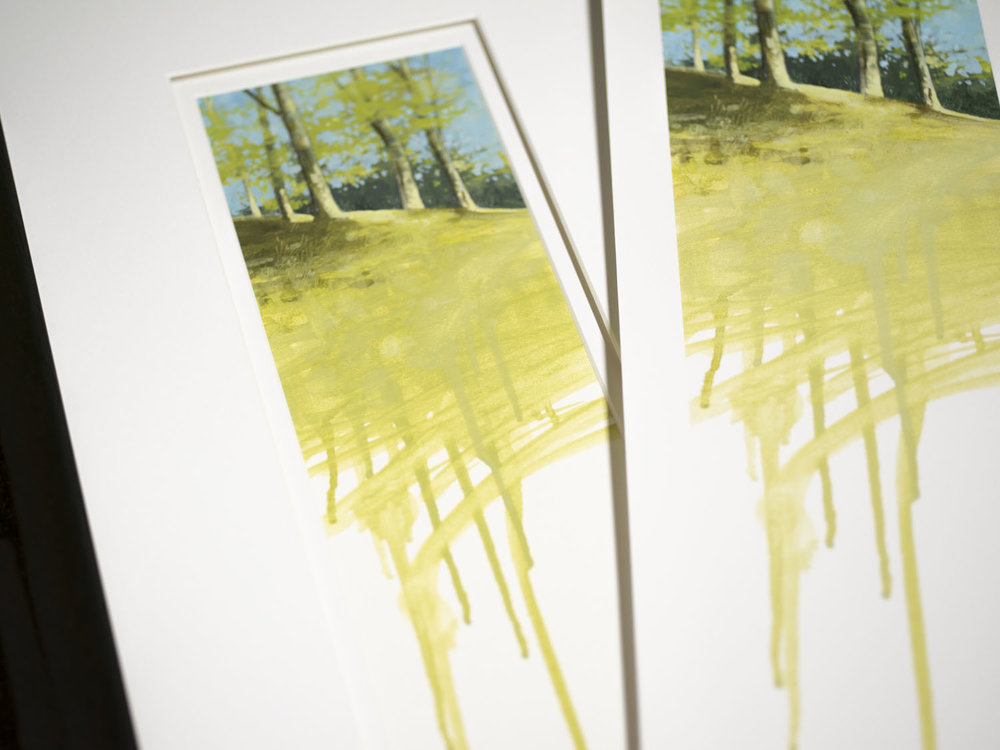 Original painting (left), print (right)