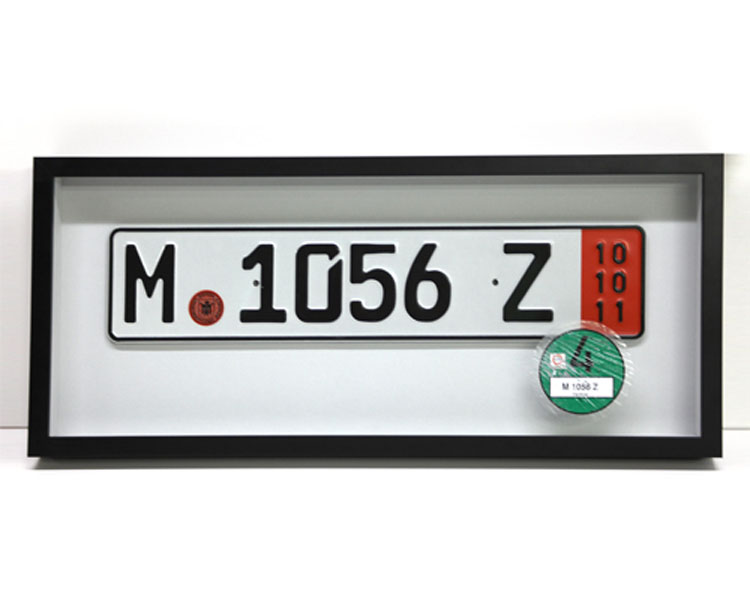 European License Plate Shadow Box