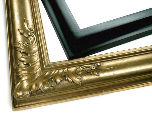 FINISHED-CORNER FRAMES - These frames are custom-made to have seamless corners, ranging from perfectly smooth to beautifully carved. Finished-corner frames are completely hand-made to any specification.