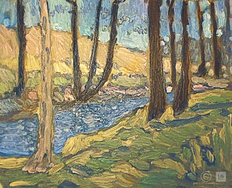 Late Winter Landscape withTrout Stream