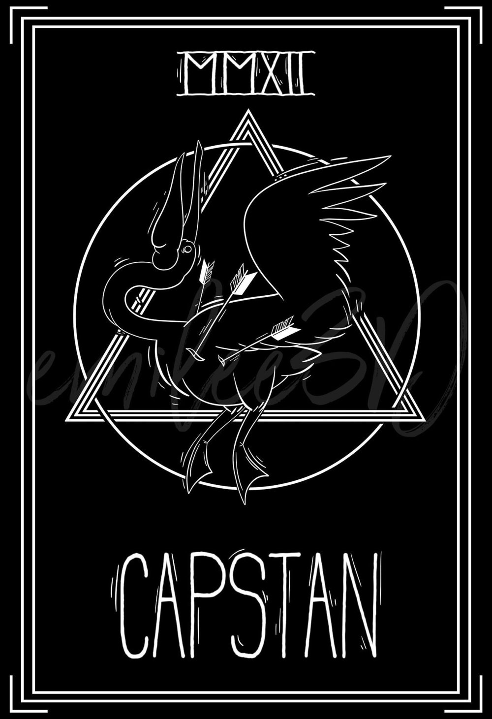 Graphic design for the band Capstan