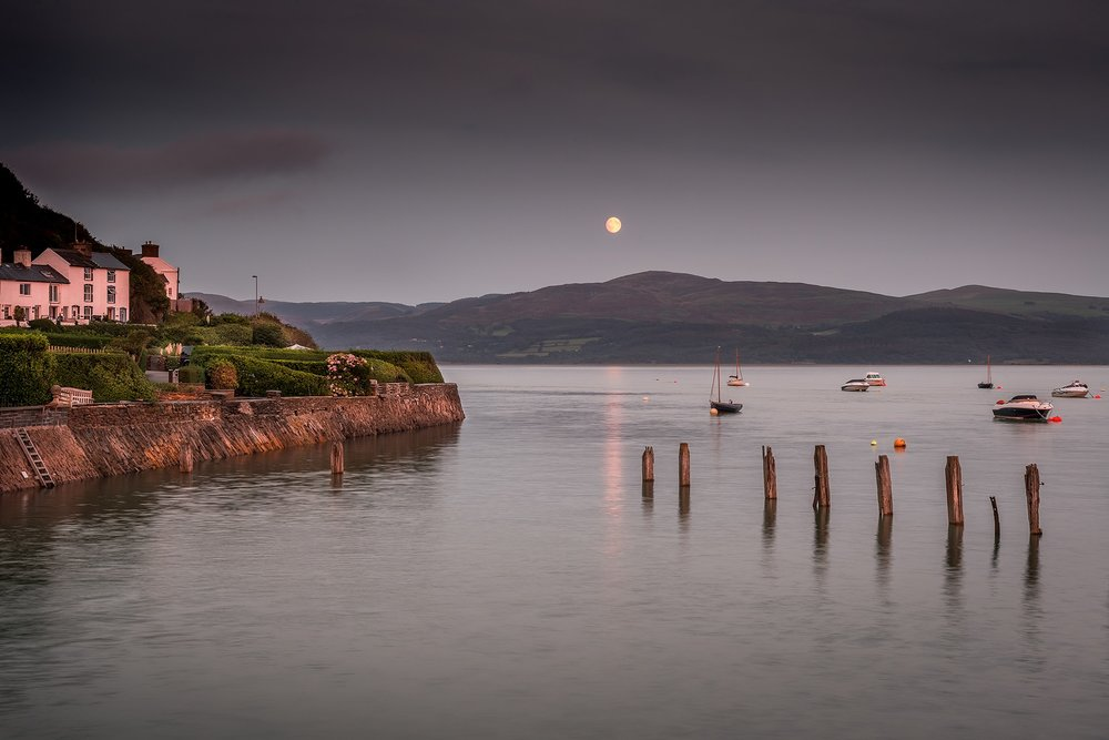 Paul Fowles Photography, Aberdovey Aberdyfi,  Harvest Moon Sunset Penhelig Harbour, Aberdyfi.jpg