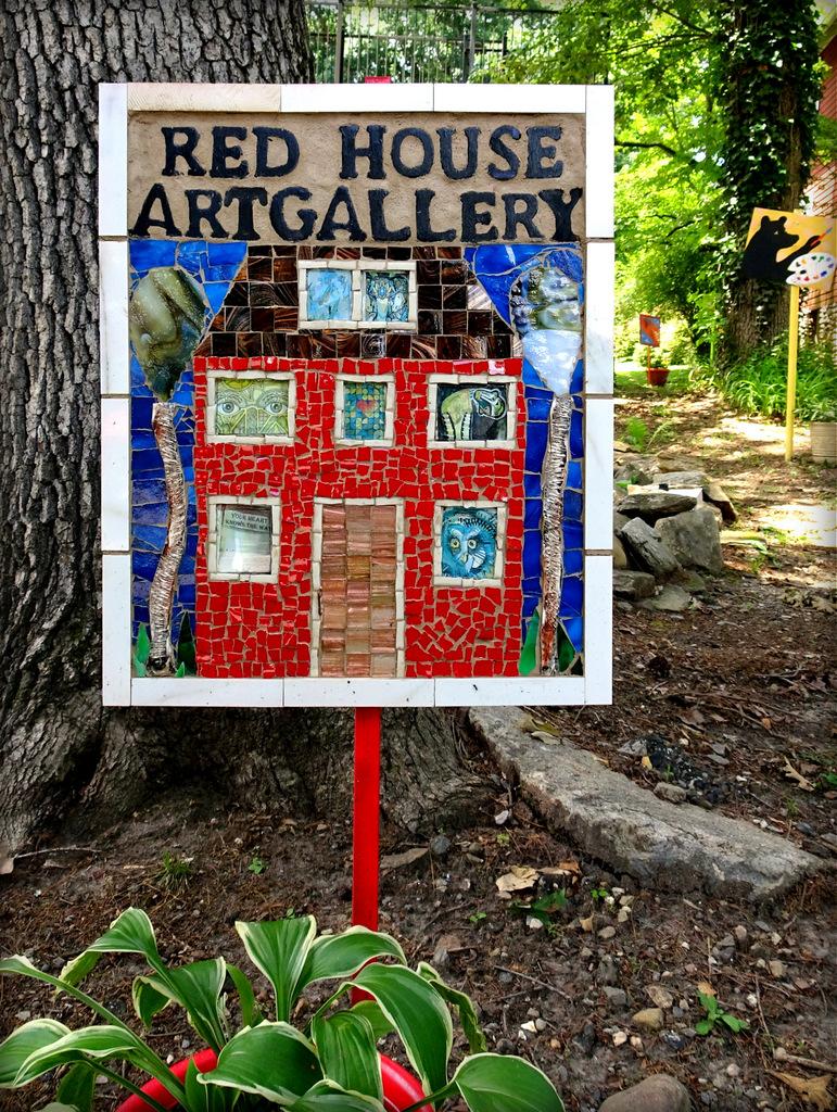 The Red House Studios & Gallery, Bitty Bits mosaics.JPG