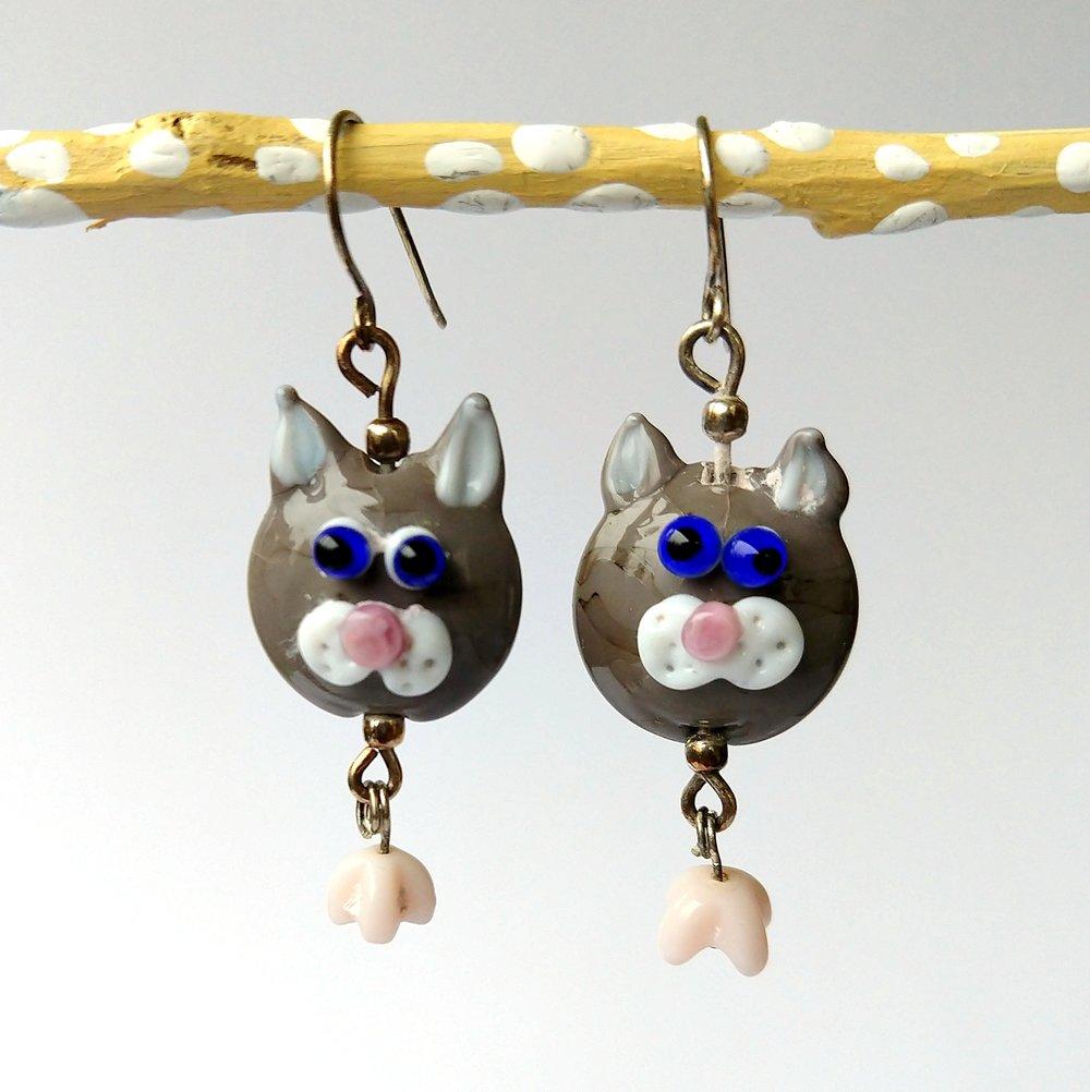 Handmade Glass Bead Earrings, Bitty Bits Mosaics-005.jpg
