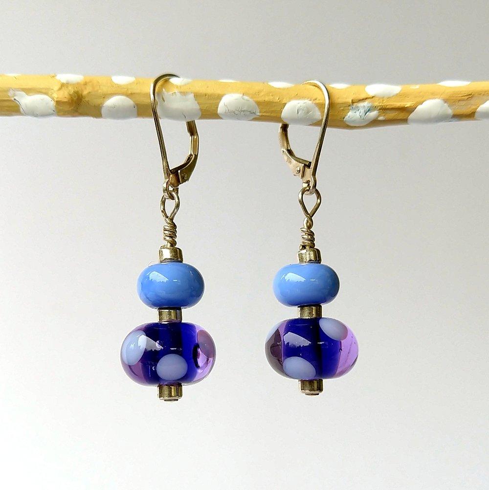 Handmade Glass Bead Earrings, Bitty Bits Mosaics-009.jpg