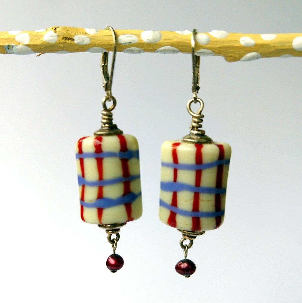 Handmade Glass Bead Earrings, Bitty Bits Mosaics-020.jpg