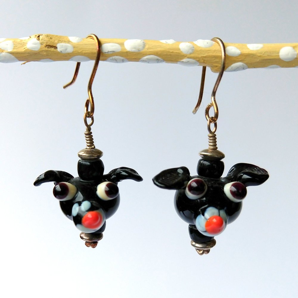 Handmade Glass Bead Earrings, Bitty Bits Mosaics-007.jpg