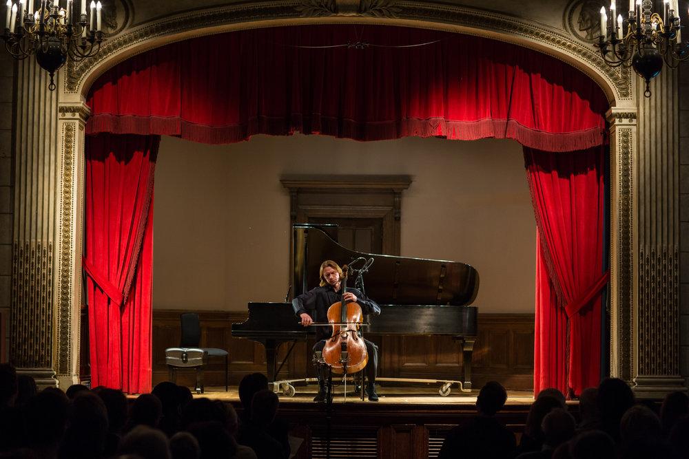 WEIMAR: THE CRADLE OF MUSICAL TALENT  - APRIL 19, 2018. Italian AcademyVsevolod Dvorkin, pianoSergey Antonov, celloIllustrated Talk by Stephen JohnsonBach - Cello Suite No.1 in G majorMendelssohn - Cello Sonata No.2 in D. majorLiszt - Piano Sonata in B minor