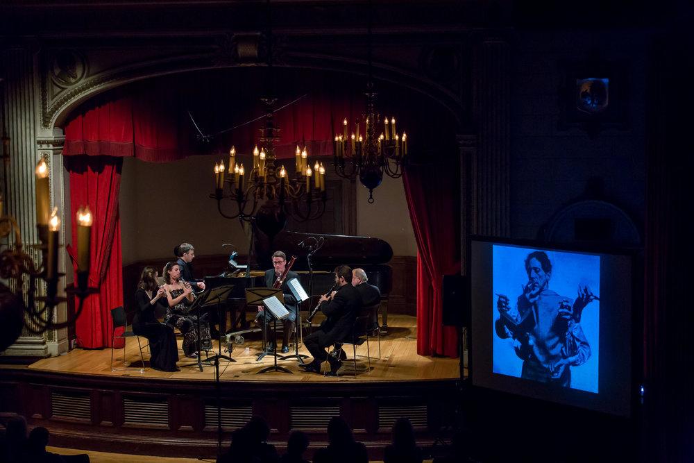 WINDS OF CHANGE: VIENNA,ST. PETERSBURG, PARIS - May 17, 2017. italian academyBenjamin Hochman, pianoJoseph Anderer, hornAlexander Bedenko, clarinetWilliam Short, bassoonAnna Urrey, fluteKatherine Needleman, oboeIllustrated talk by Stephen JohnsonMozart - Quintet in E flat major for piano and winds, K452Rimsky-Korsakov - Quintet in B flat majorPoulenc - Sextet for piano and wind quintet, Op. 100